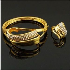 Jewelry - Gold Plated Bangle and Matching Ring